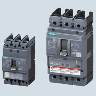 SIEMENS 3-pole, fixed-mounted, 100 % rated, 3VA61 to 3VA64 breaker