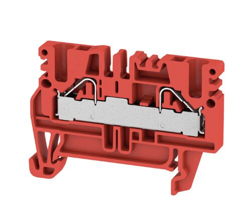 Weidmüller PDU 2.5/4 RT 1011510000 Feed-through terminal, PUSH IN, 4 mm², 800 V, 32 A, Red