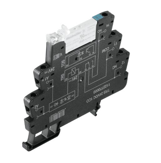 Weidmüller TRS 5VDC 1CO 1122740000 TERMSERIES, Relay module, No. of contacts: 1 CO contact AgNi, Rated control voltage: 5 V DC ±20 %, Continuous current: 6 A, Screw connection
