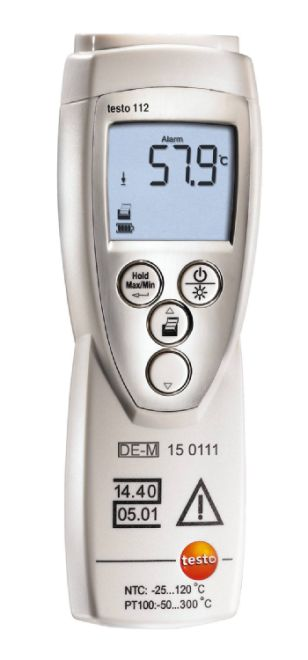 testo 112 – Officially calibratable one-channel temperature measuring instrument